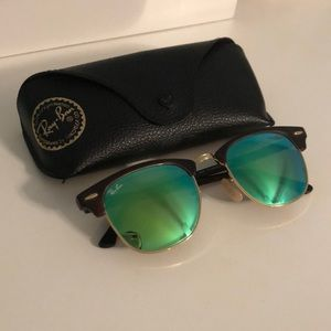 RayBan ClubMaster Classic Sunglasses Tortoise